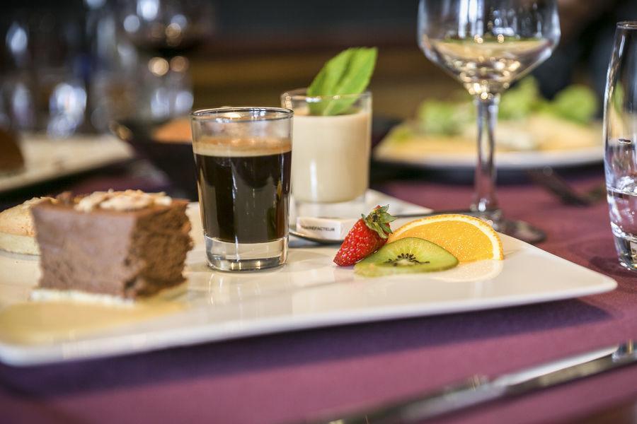 Brit Hotel Rennes - Le Castel *** Dessert au restaurant Le Castel