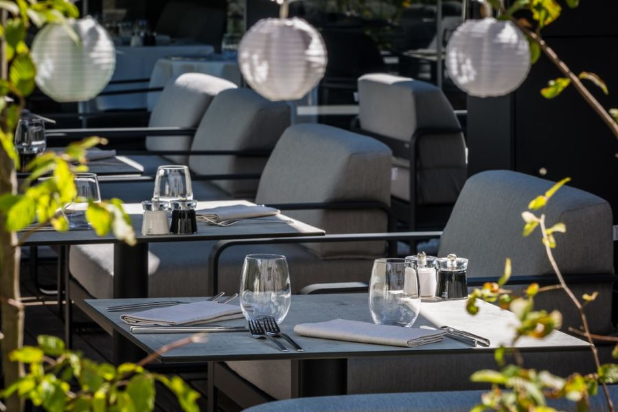 Heliopic Hotel & Spa Restaurant Akashon - Terrasse
