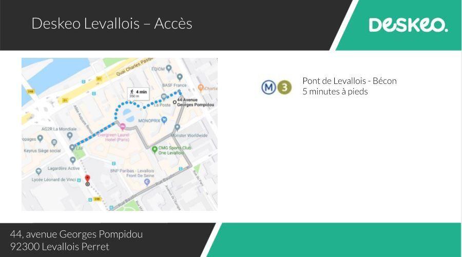 Deskeo Levallois Plan d'accès