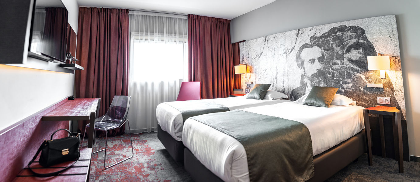 Quality Hôtel Belfort**** Chambre standard twin