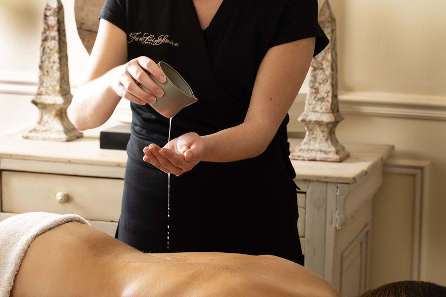 Ferme Saint Siméon ***** Massage à la bougie