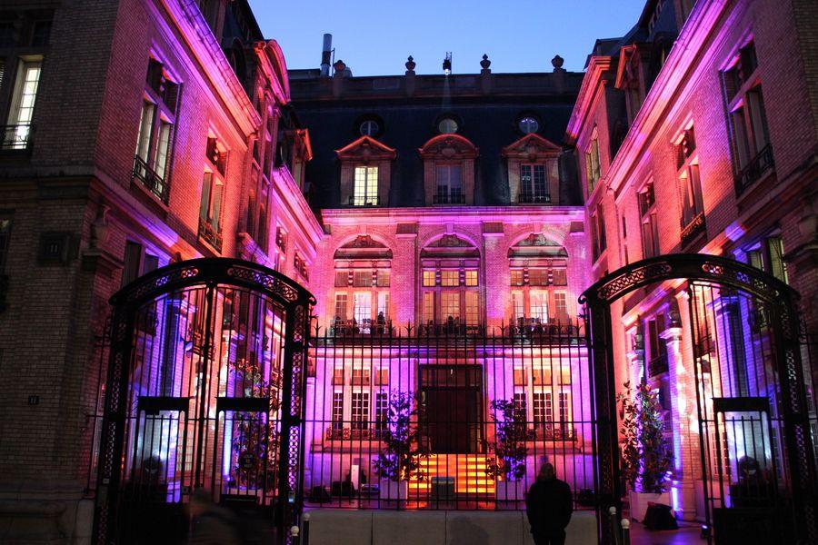 Espace Hamelin Cour d'honneur éclairée
