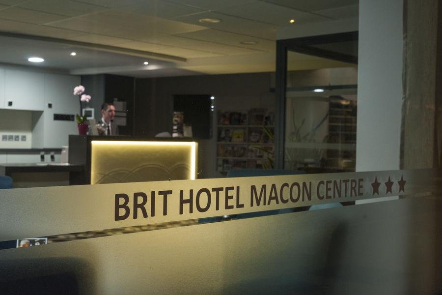 Brit Hotel Mâcon Centre Gare *** Accueil réception