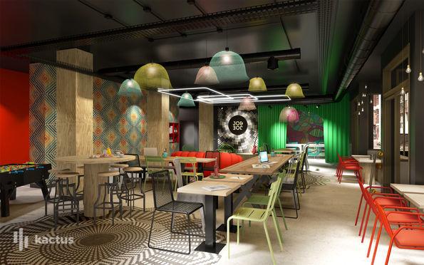 Restaurant & stage