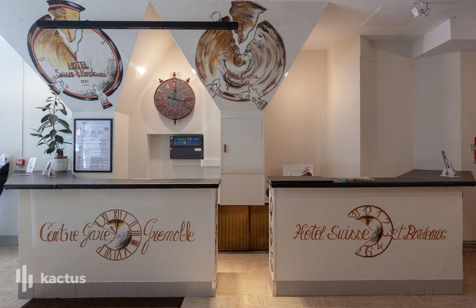 Brit Hotel Grenoble Suisse et Bordeaux Réception Du Brit Hotel Grenoble Suisse et Bordeaux