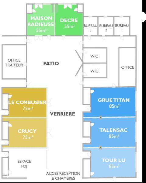 SURE HOTEL BY BEST WESTERN NANTES BEAUJOIRE *** Plan des espaces séminaire