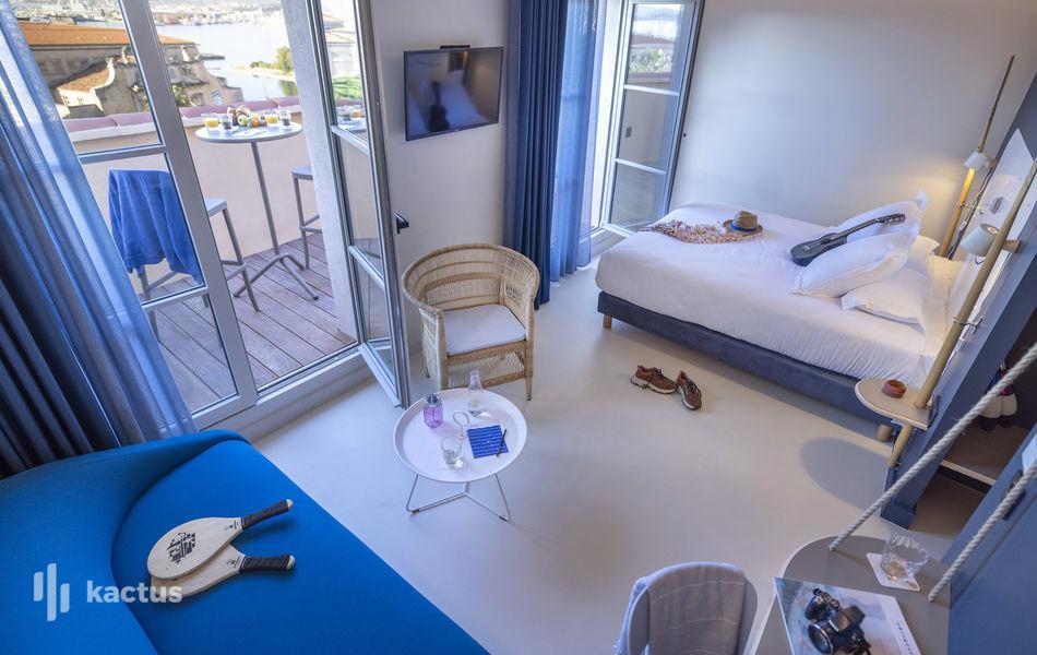 l'Eautel Toulon Port **** Chambre avec terrasse