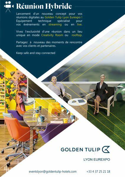 Golden Tulip Lyon Millénaire Eurexpo **** Réunion Hybride Creativity Room ou Rooftop