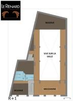 Plan salle mariage theatre du renard etage