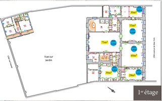 Plan salle mariage mona bismarck american center 1er etage