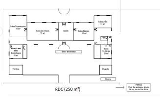 Plan salle mariage ch%c3%a2teau de bourron rdc