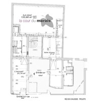 Plan salle mariage cour du marais rdc
