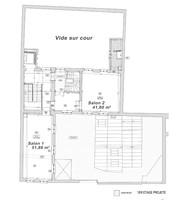 Plan salle mariage cour du marais 1er etage