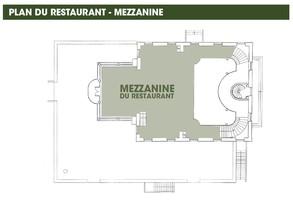 Plan salle mariage restaurant l'ile mezzanine
