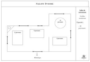 Plan salle mariage domaine saint clair   salon ivoire
