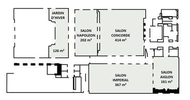 Plan salle mariage the westin paris