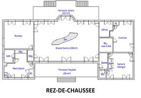 Plan salle mariage demeure lamaury   rdc