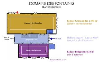 Domaine des fontaines   plan des espaces
