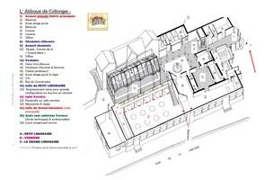 Abbaye de collonges paul bocuse   plan en 3d de l'abbaye de collonges