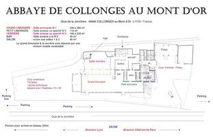 Abbaye de collonges paul bocuse   plan g%c3%a9n%c3%a9ral de l'abbaye de collonges