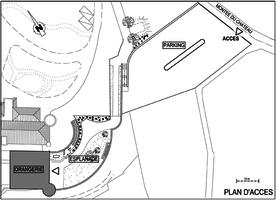 Orangerie du chateau de monteleger   plan du domaine