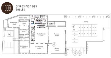 Restaurant lounge le 1838   plan du restaurant
