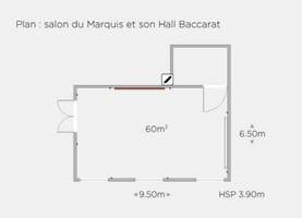 H%c3%b4tel de sers   plan salon du marquis