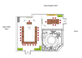 Plan des salles