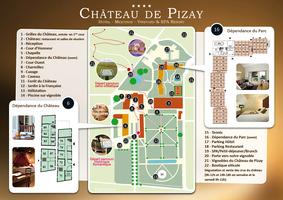 Plan chateau de pizay