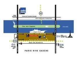 Plan acces paris yacht marina