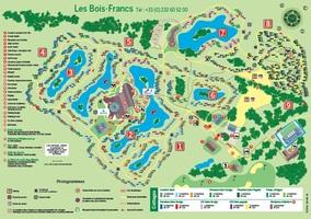 Plan center parcs domaine les bois francs
