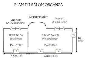 Plan salon organza