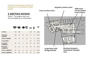 Le scribe   one entire floor dedicated to your event
