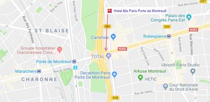 Plan de la place de montreuil   emplacement ibis