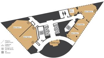 Plan 1st floor pullman paris la d%c3%a9fense