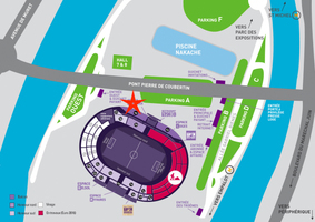 Plan d'acces stadium