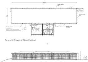 Plan orangerie pour implantation